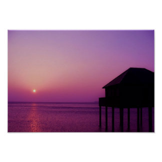 Purple Sunset at the Lake Constance - Poster