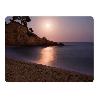 Purple Sunset beach Catalonia, Spain Card