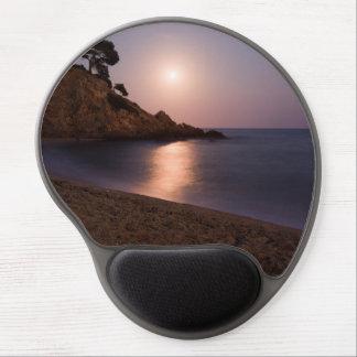 Purple Sunset beach Catalonia, Spain Gel Mouse Pad