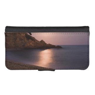 Purple Sunset beach Catalonia, Spain iPhone 5 Wallets