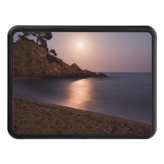 Purple Sunset beach Catalonia, Spain Tow Hitch Covers