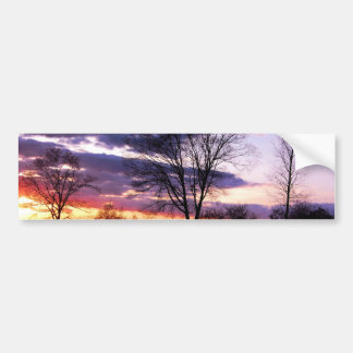 Purple Sunset Bumper Stickers