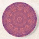 Purple Sunset Butterflies Kaleidoscope Mandala Drink Coasters