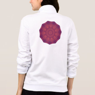 Purple Sunset Butterflies Kaleidoscope Mandala Printed Jacket