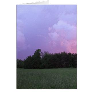Purple Sunset Card