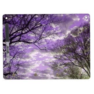 Purple Sunset Dry Erase Board