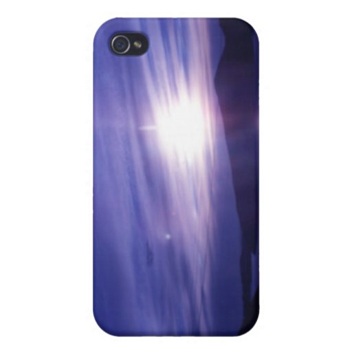 purple sunset iPhone 4 cover