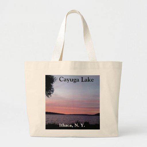 PURPLE SUNSET ON CAYUGA LAKE bag