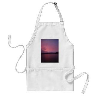 Purple sunset on Lake Arrowhead Adult Apron