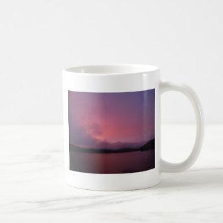 Purple sunset on Lake Arrowhead Coffee Mug