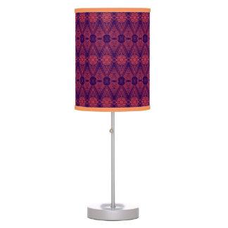 Purple Sunset Patterned Table Lamp
