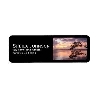 Purple Sunset Personalized Label