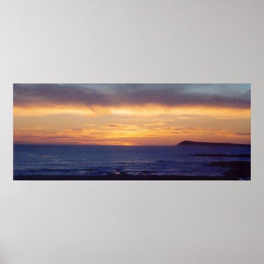 Purple Sunset Photo Poster