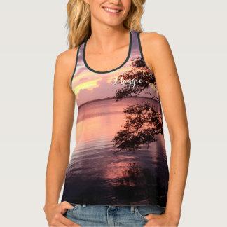 Purple Sunset Serene Scene Nature Personalized Tank Top