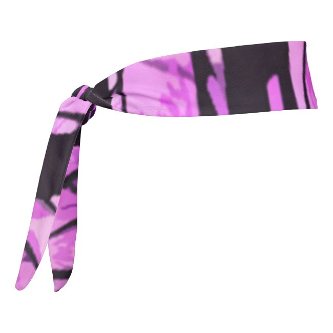 Purple Sunset Stained Glass Abstract Headband