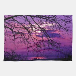Purple sunset towel