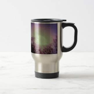 Purple sunset travel mug