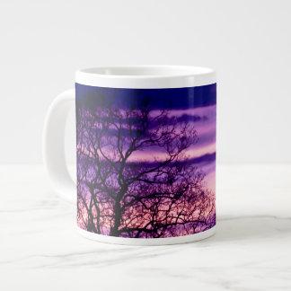 Purple Sunset Tree Silhouette mug