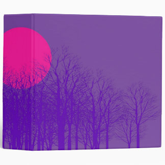 Purple Sunset Vintage 3 Ring Binder