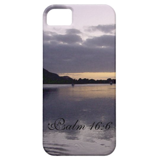 Purple Sunset Watercolor - Psalm 16:6 iPhone SE/5/5s Case