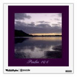 Purple Sunset Watercolor - Psalm 16:6 Wall Decals