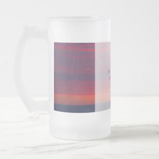 Purple Sunset Wedding Grooms Wedding Glass Frosted Glass Beer Mug