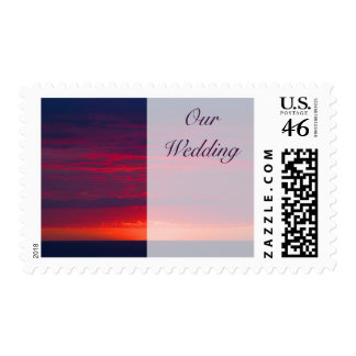 Purple Sunset Wedding Stamps