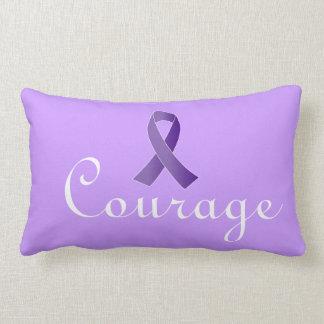 Purple Support Ribbon Awareness Pillow