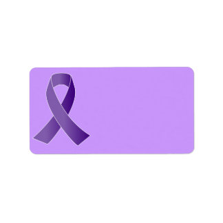Purple Support Ribbon labels
