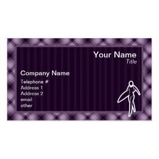 Purple Surfing Girl Double-Sided Standard Business Cards (Pack Of 100)