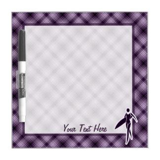 Purple Surfing Girl Dry-Erase Whiteboard
