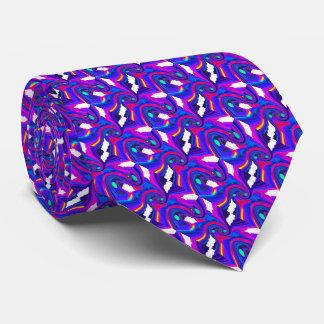 Purple surfing neck tie