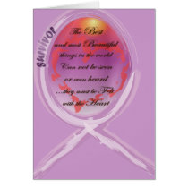 Purple Survivor Ribbon Surrounds Words to Live By Card