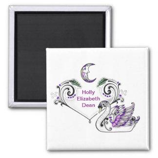 Purple Swan (Holly Elizabeth Dean) Magnet