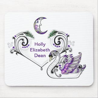 Purple Swan (Holly Elizabeth Dean) Mouse Pad