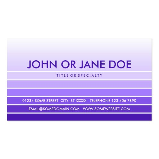 purple swatch business card template