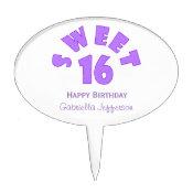 Purple Sweet 16 Cake Pick