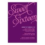 Purple Sweet 16 Invitations