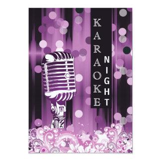 Purple Sweet 16 karaoke night party Invitation