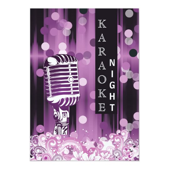 Purple sweet 16 karaoke night party invitation zazzle purple sweet 16 karaoke night party invitation stopboris Image collections