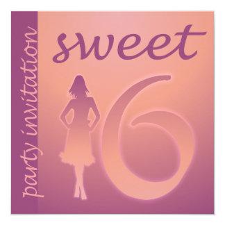 Purple Sweet 16 Party Invitation