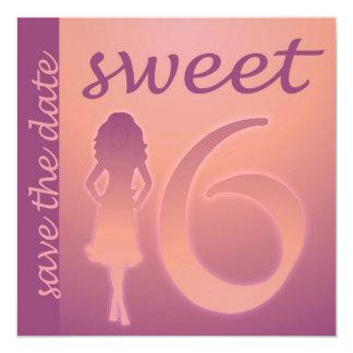 Purple Sweet 16 Save the Date Card