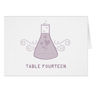 Purple Sweet Chemistry Table Number Card
