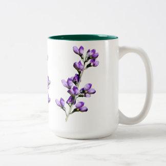 Purple Sweet Peas Flowers Customizable Mug