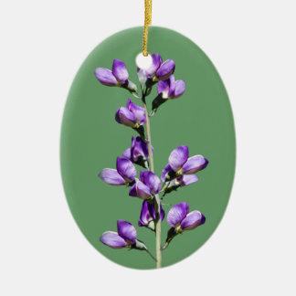 Purple Sweet Peas Flowers Customizable Ornament