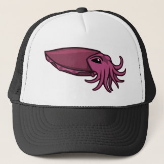 Purple Swimming Cuttlefish Trucker Hat