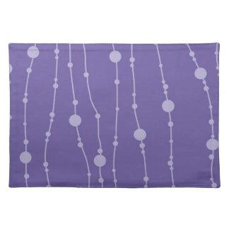 Purple Swingin' Beads Placemat Cloth Place Mat