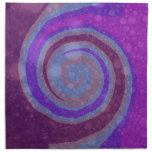 Purple Swirl Abstract Art Napkins