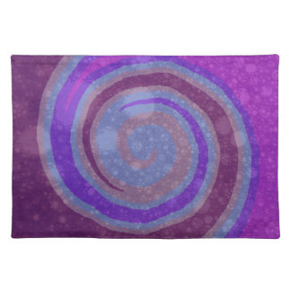 Purple Swirl Abstract Art Placemat