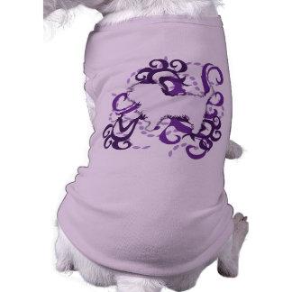 Purple Swirl Affenpinscher Pet Tee Shirt